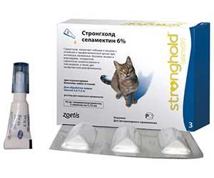 Стронгхолд - капли от ушного клеща у кошек