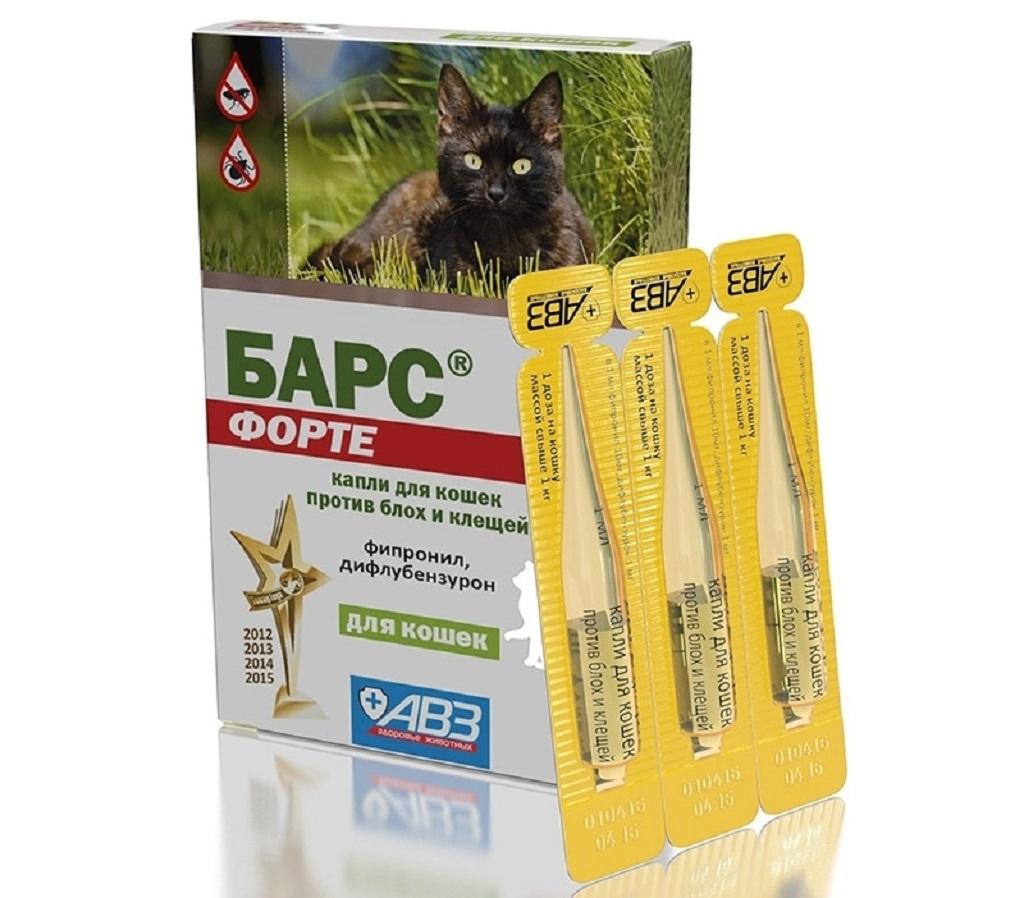 Барс -капли от ушного клеща у кошек